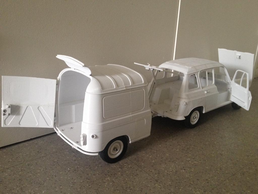 Renault 4 Sinpar 4x4 - ech:1/8 - Impression 3D 106
