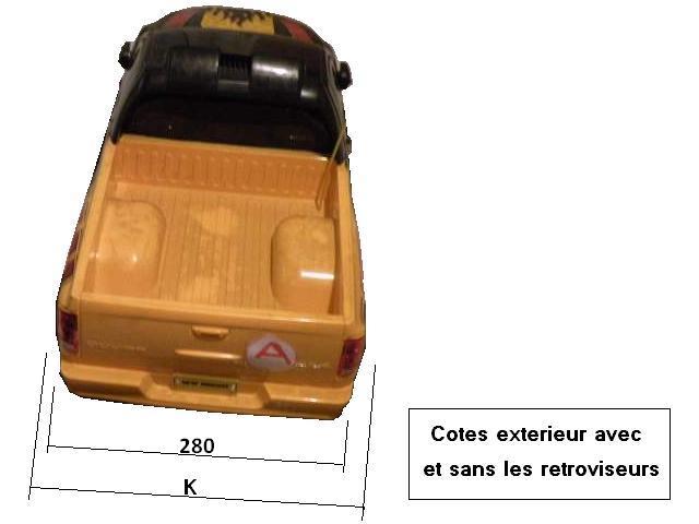 Dimensions des carrosseries 1/6 New Bright Cotes_Dodge_face