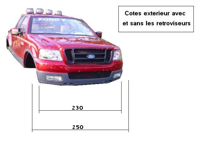 Dimensions des carrosseries 1/6 New Bright Cotes_FX4_Face