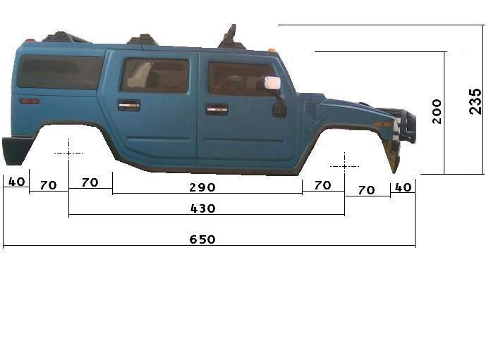 Dimensions des carrosseries 1/6 New Bright Cotes_H2_Cote