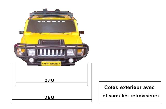 Dimensions des carrosseries 1/6 New Bright Cotes_H2_Face