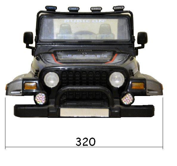 Dimensions des carrosseries 1/6 New Bright Cotes_Jeep_Face