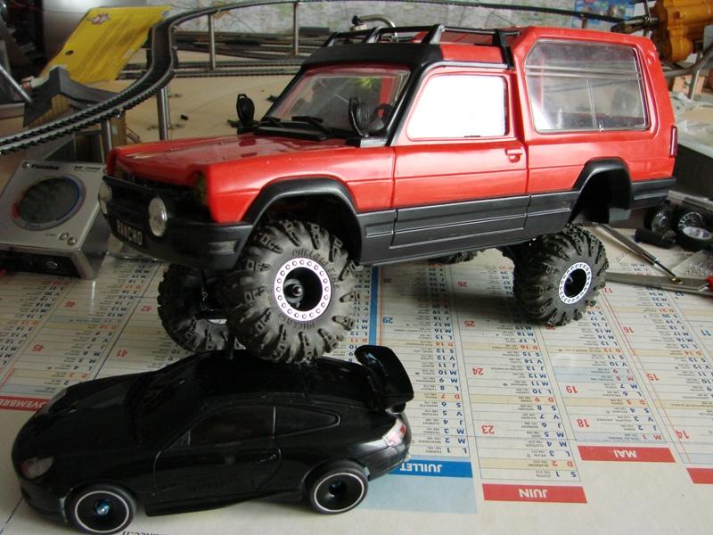 [RC Trax Mini Qlo] Simca Matra Rancho 1/13 sur mécanique MiniQlo 055