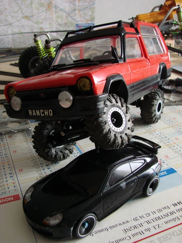 [RC Trax Mini Qlo] Simca Matra Rancho 1/13 sur mécanique MiniQlo 057