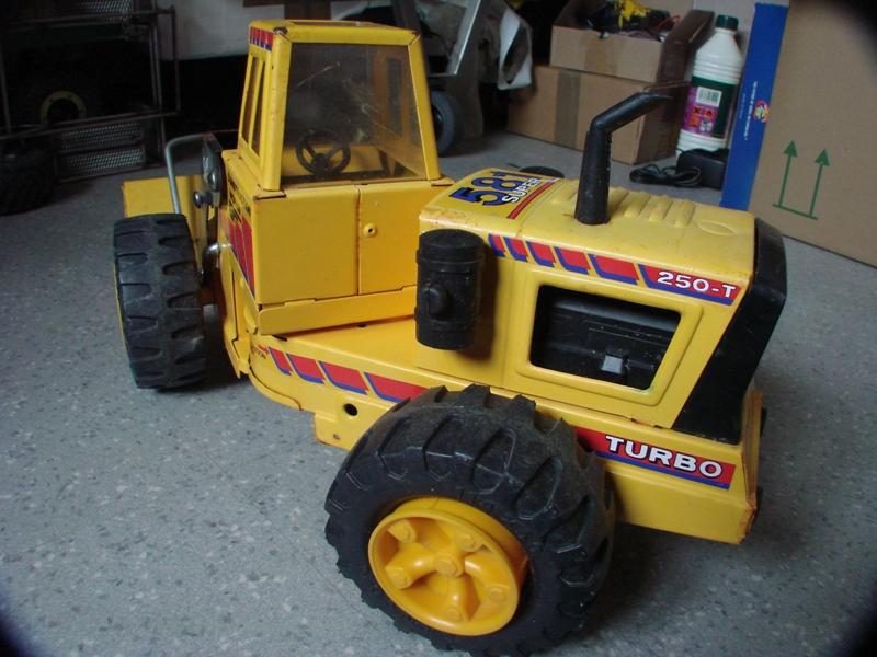 Chargeur a pneus - Jouet tôle Rico - verrin mécanique 006