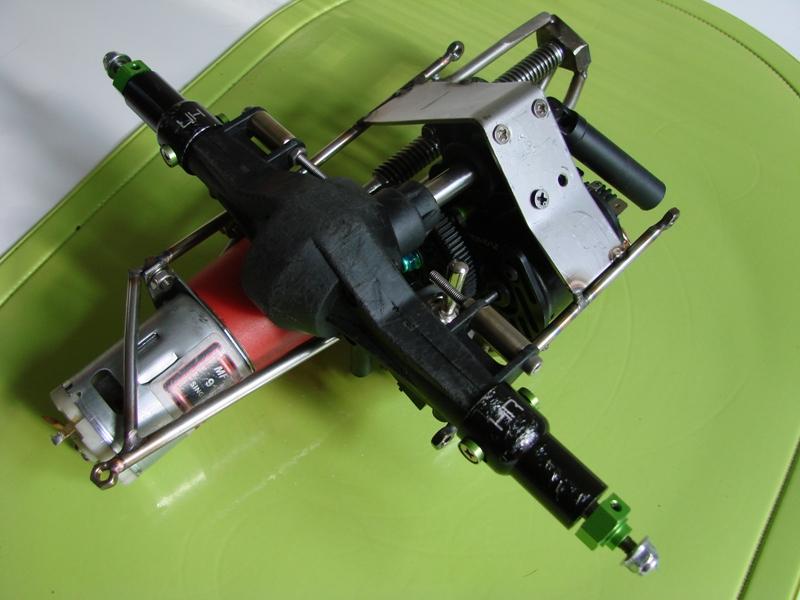 Chargeur a pneus - Jouet tôle Rico - verrin mécanique 050