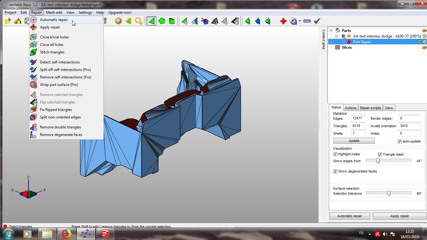 Modelisation 3D - Verifier et nettoyer un fichiers STL 08