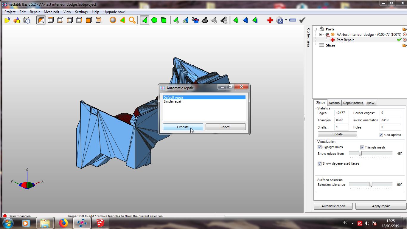 Modelisation 3D - Verifier et nettoyer un fichiers STL 09