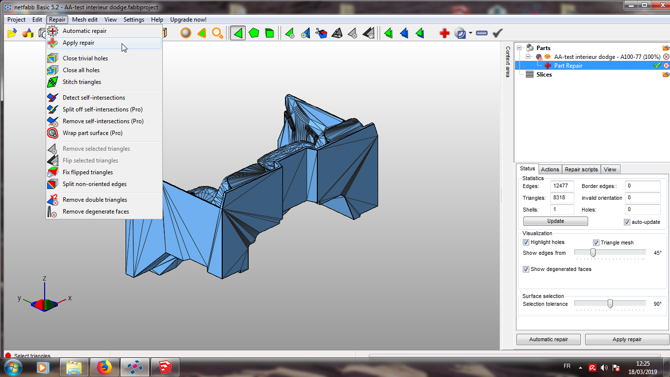 Modelisation 3D - Verifier et nettoyer un fichiers STL 10