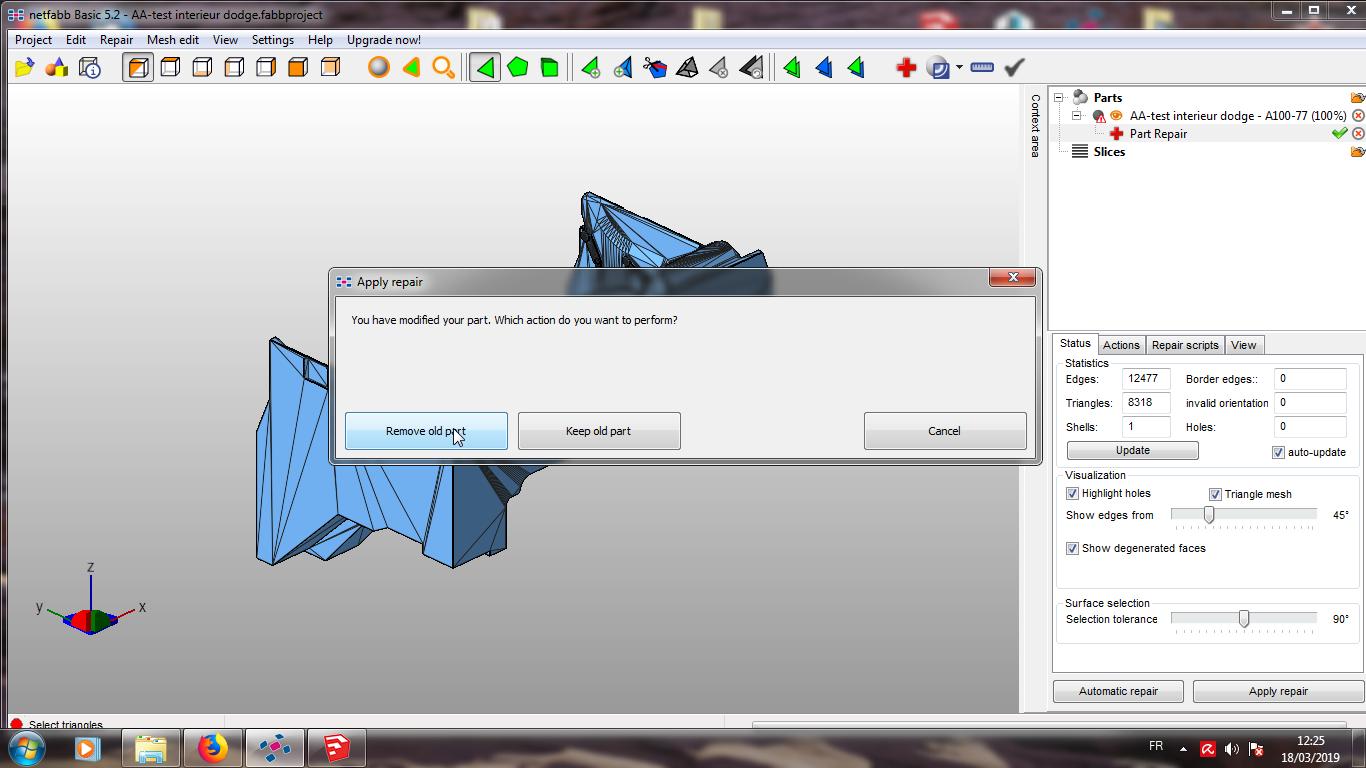 Modelisation 3D - Verifier et nettoyer un fichiers STL 11