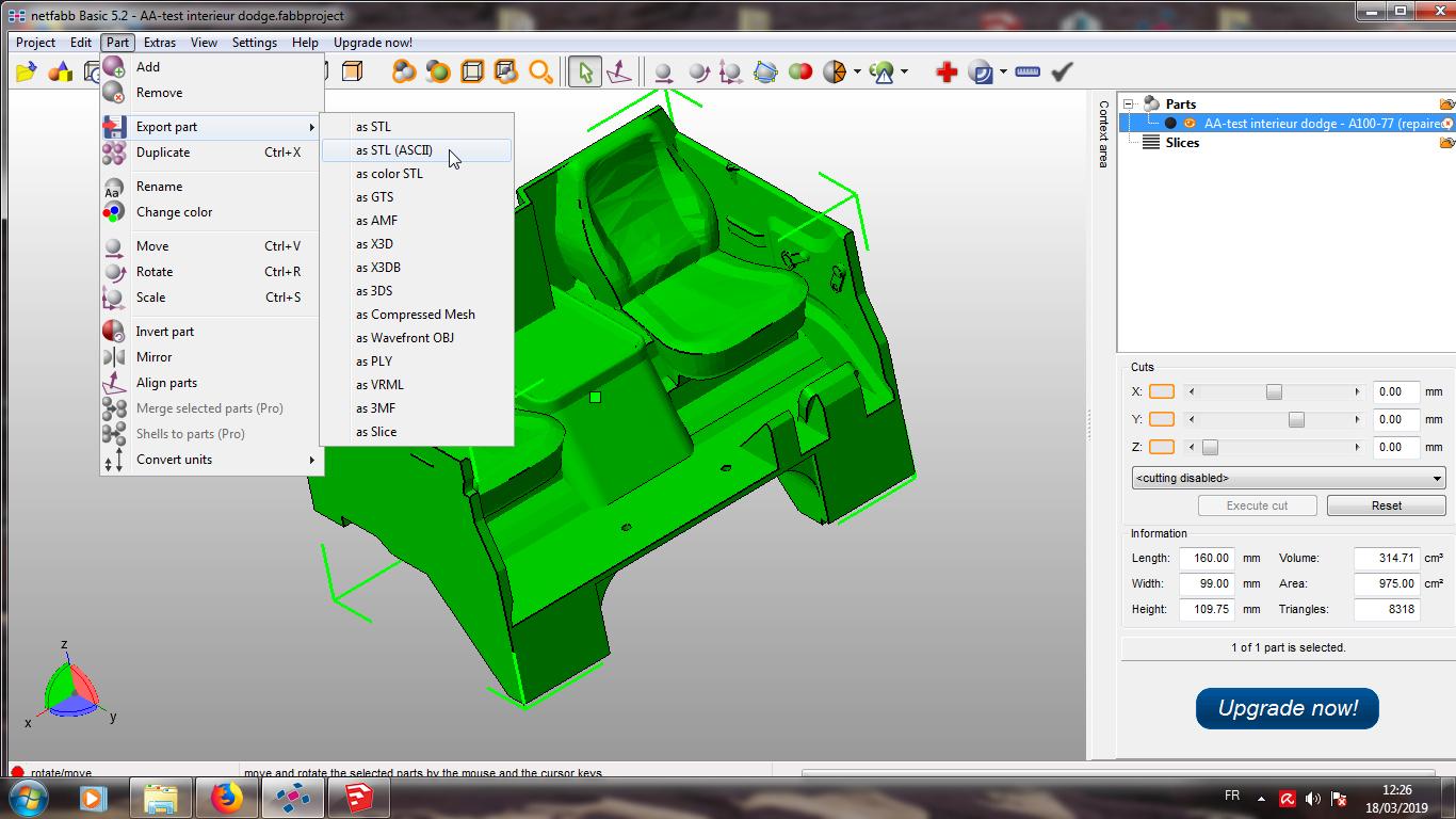 Modelisation 3D - Verifier et nettoyer un fichiers STL 13