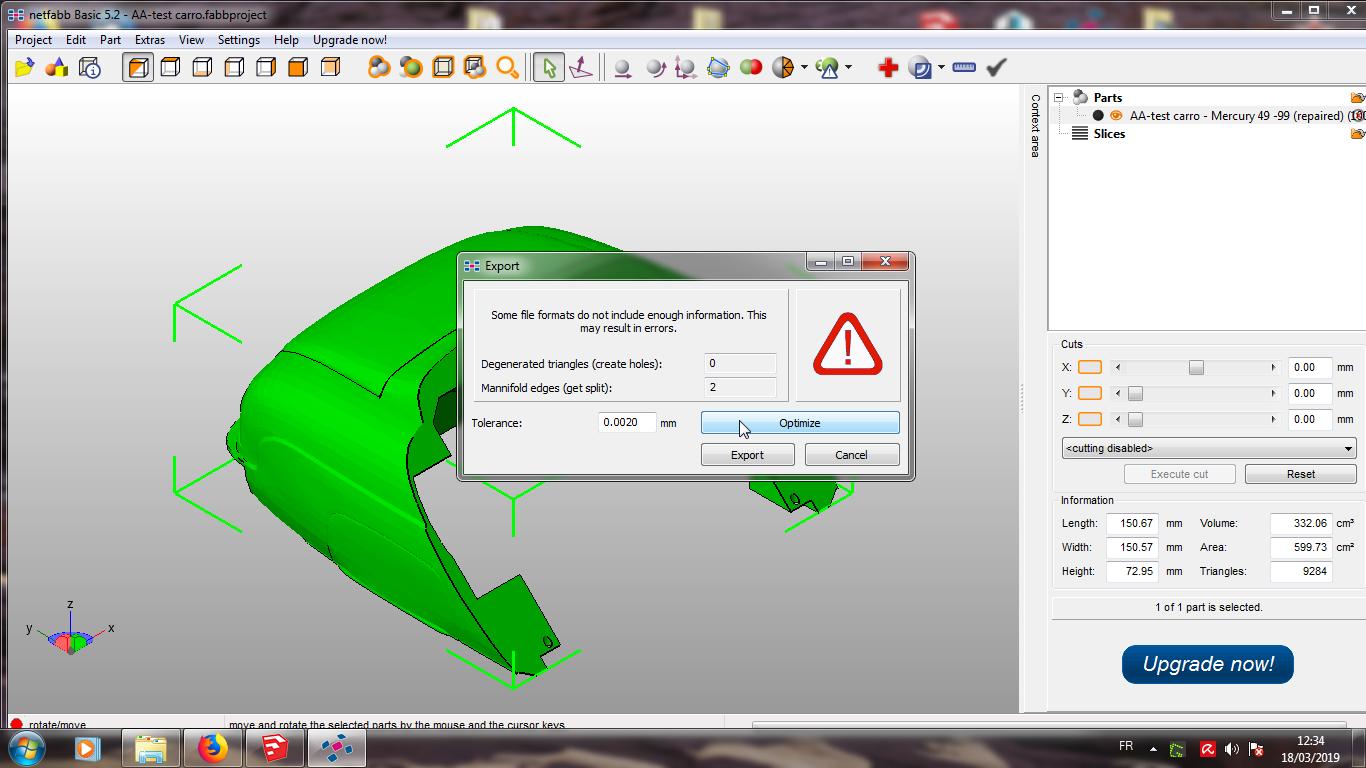 Modelisation 3D - Verifier et nettoyer un fichiers STL 17