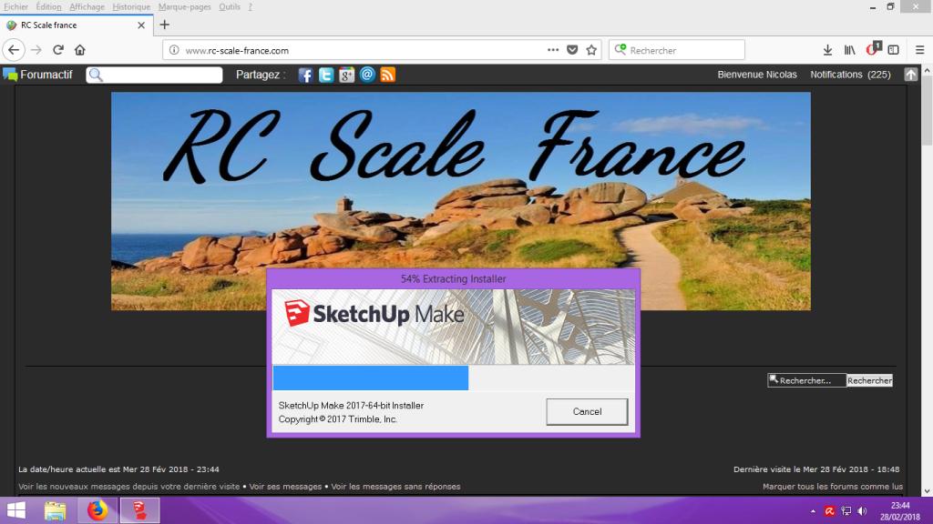 [Tuto] Modelisation 3D - Tuto 1 sur Sketchup - Installation, premier tracé, Calques et exportation STL. 001
