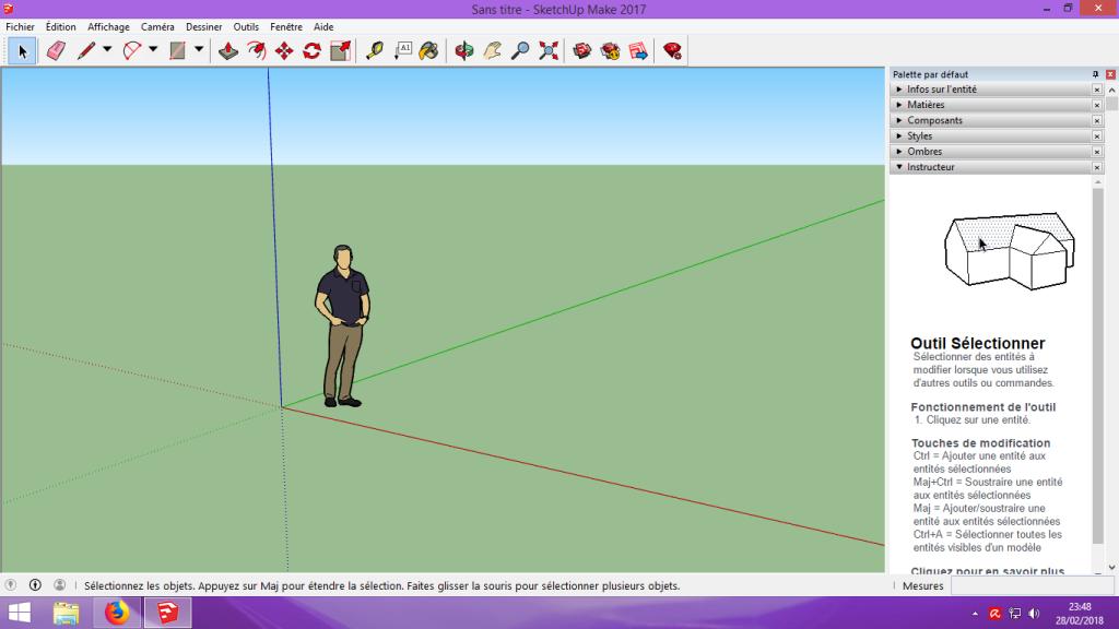 [Tuto] Modelisation 3D - Tuto 1 sur Sketchup - Installation, premier tracé, Calques et exportation STL. 010