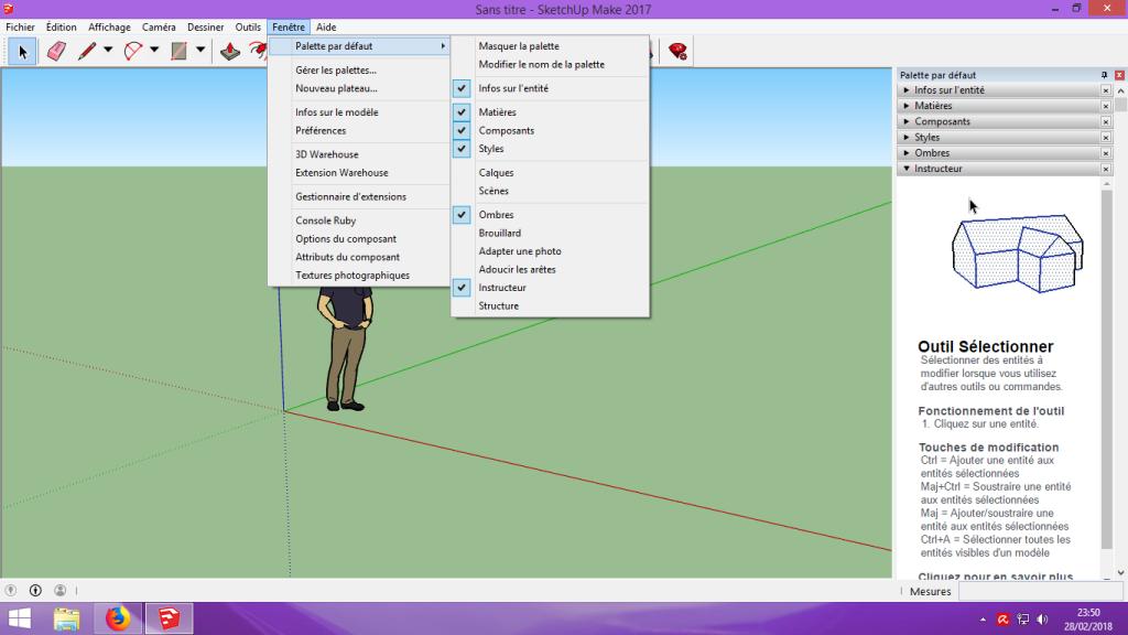 [Tuto] Modelisation 3D - Tuto 1 sur Sketchup - Installation, premier tracé, Calques et exportation STL. 011