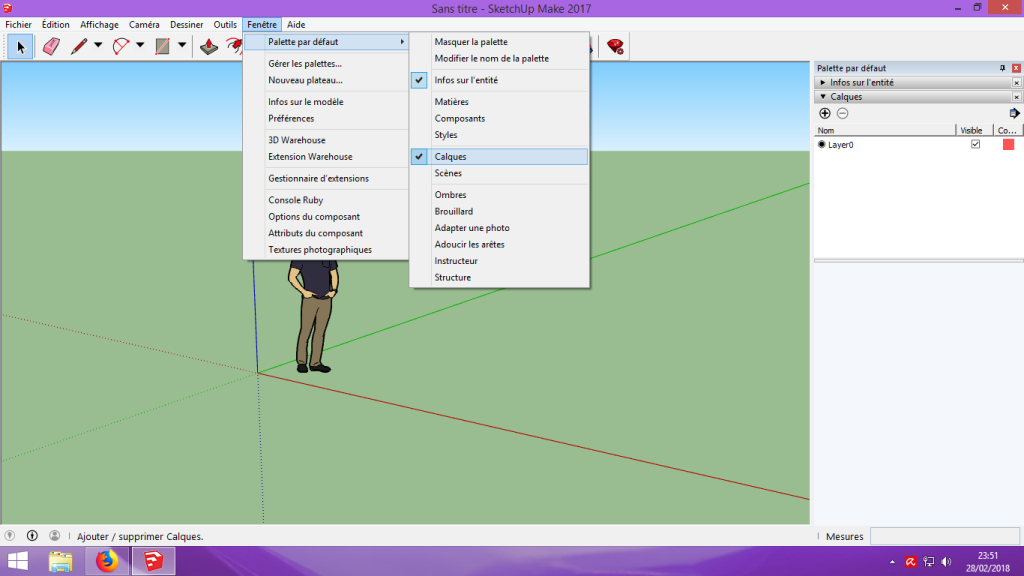 [Tuto] Modelisation 3D - Tuto 1 sur Sketchup - Installation, premier tracé, Calques et exportation STL. 012