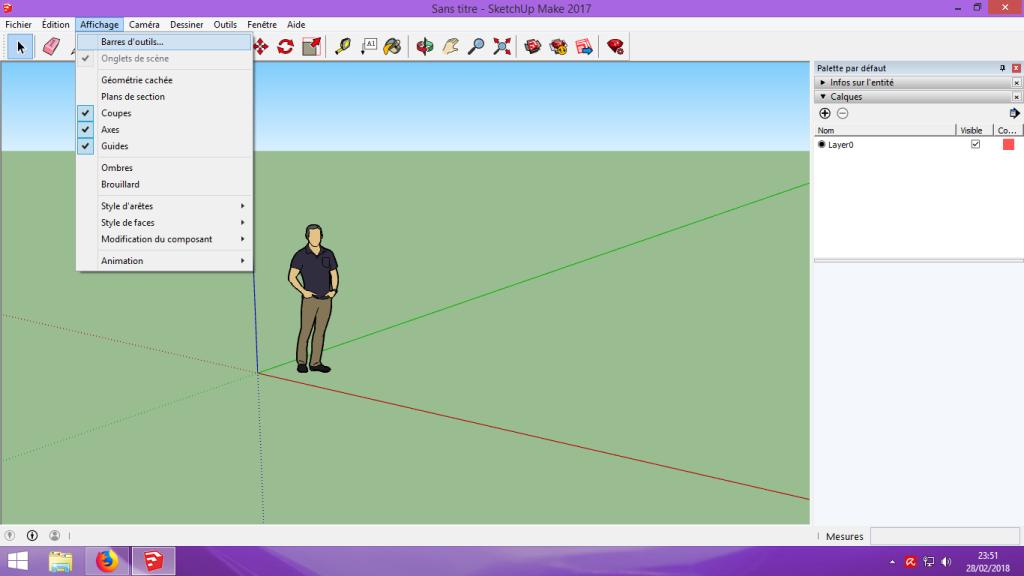 [Tuto] Modelisation 3D - Tuto 1 sur Sketchup - Installation, premier tracé, Calques et exportation STL. 013