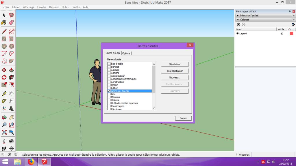 [Tuto] Modelisation 3D - Tuto 1 sur Sketchup - Installation, premier tracé, Calques et exportation STL. 014