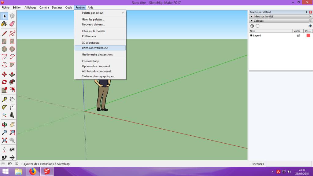 [Tuto] Modelisation 3D - Tuto 1 sur Sketchup - Installation, premier tracé, Calques et exportation STL. 020