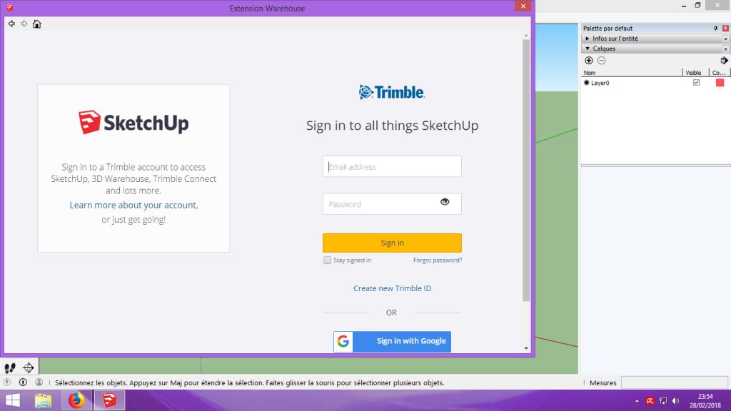 [Tuto] Modelisation 3D - Tuto 1 sur Sketchup - Installation, premier tracé, Calques et exportation STL. 023