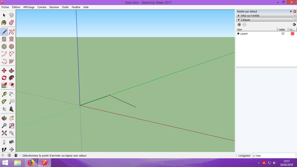 [Tuto] Modelisation 3D - Tuto 1 sur Sketchup - Installation, premier tracé, Calques et exportation STL. 031