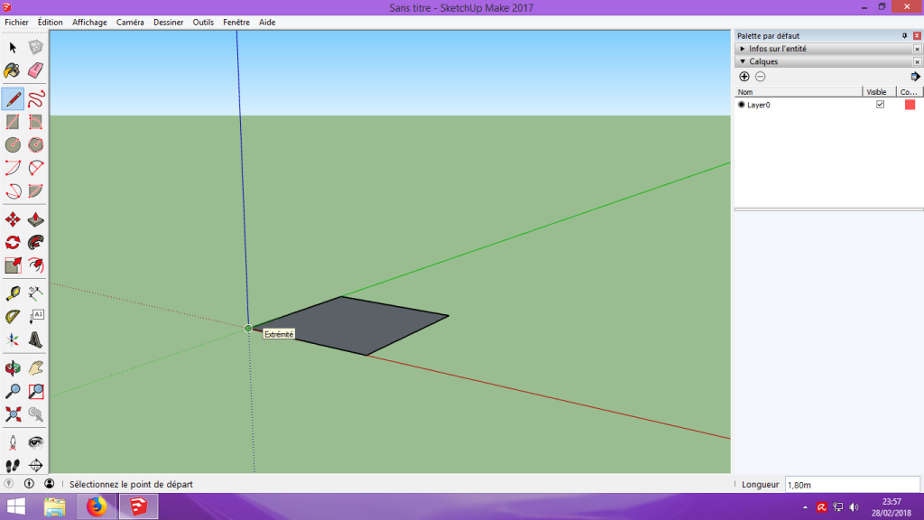 [Tuto] Modelisation 3D - Tuto 1 sur Sketchup - Installation, premier tracé, Calques et exportation STL. 033