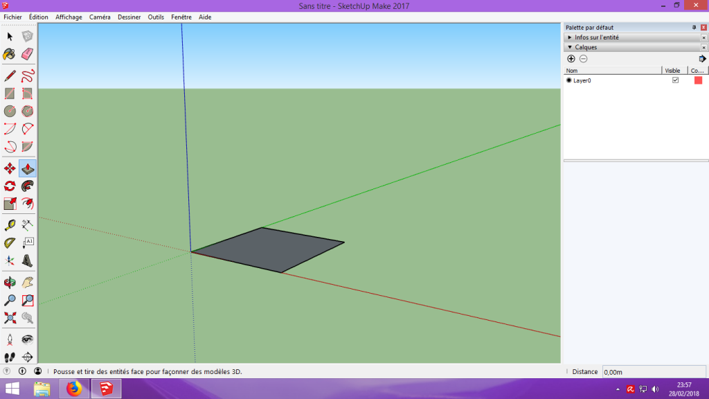 [Tuto] Modelisation 3D - Tuto 1 sur Sketchup - Installation, premier tracé, Calques et exportation STL. 034
