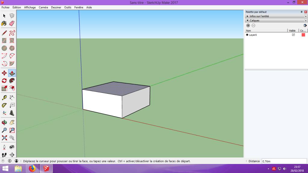 [Tuto] Modelisation 3D - Tuto 1 sur Sketchup - Installation, premier tracé, Calques et exportation STL. 035