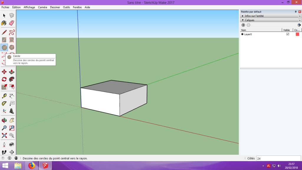 [Tuto] Modelisation 3D - Tuto 1 sur Sketchup - Installation, premier tracé, Calques et exportation STL. 036