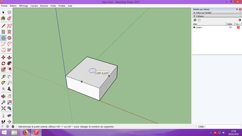 [Tuto] Modelisation 3D - Tuto 1 sur Sketchup - Installation, premier tracé, Calques et exportation STL. 037