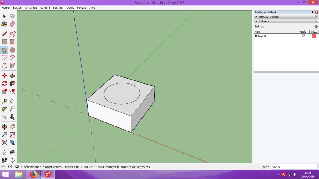 [Tuto] Modelisation 3D - Tuto 1 sur Sketchup - Installation, premier tracé, Calques et exportation STL. 038