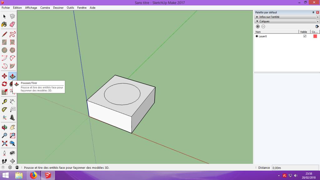 [Tuto] Modelisation 3D - Tuto 1 sur Sketchup - Installation, premier tracé, Calques et exportation STL. 039
