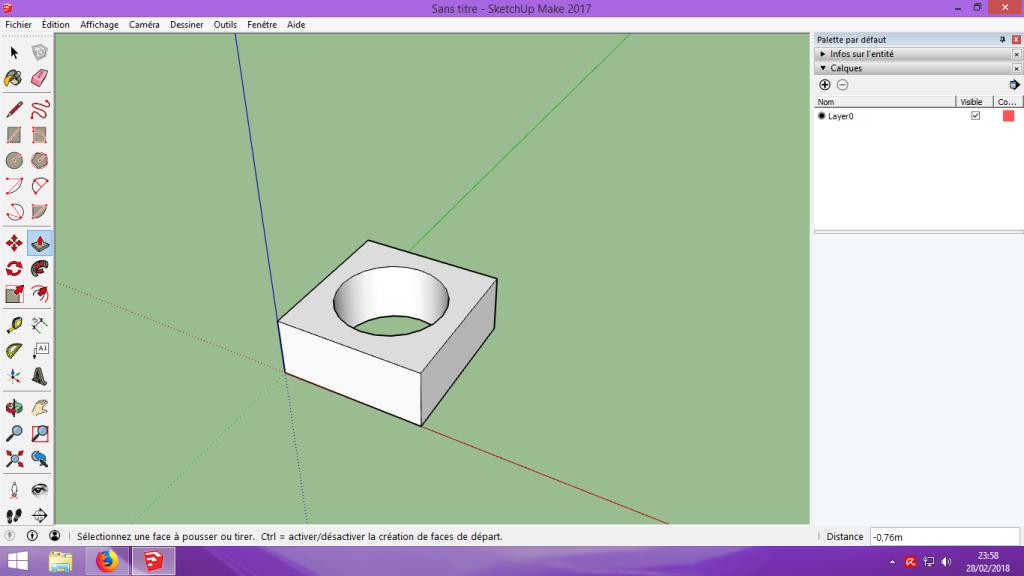 [Tuto] Modelisation 3D - Tuto 1 sur Sketchup - Installation, premier tracé, Calques et exportation STL. 042