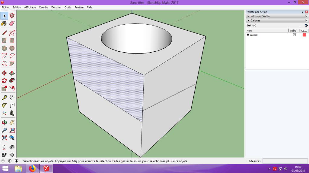 [Tuto] Modelisation 3D - Tuto 1 sur Sketchup - Installation, premier tracé, Calques et exportation STL. 045