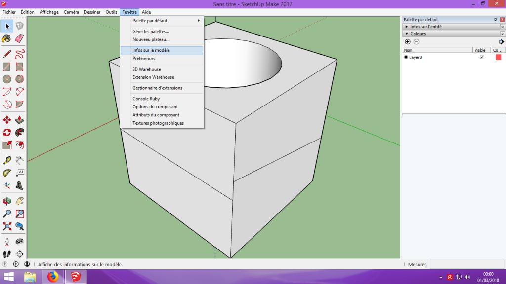 [Tuto] Modelisation 3D - Tuto 1 sur Sketchup - Installation, premier tracé, Calques et exportation STL. 046