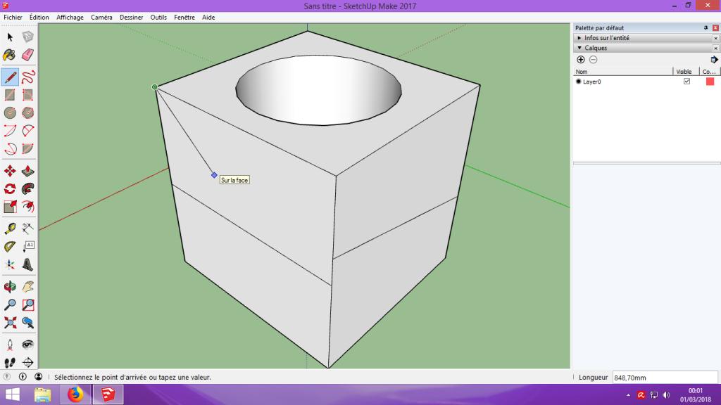 [Tuto] Modelisation 3D - Tuto 1 sur Sketchup - Installation, premier tracé, Calques et exportation STL. 049