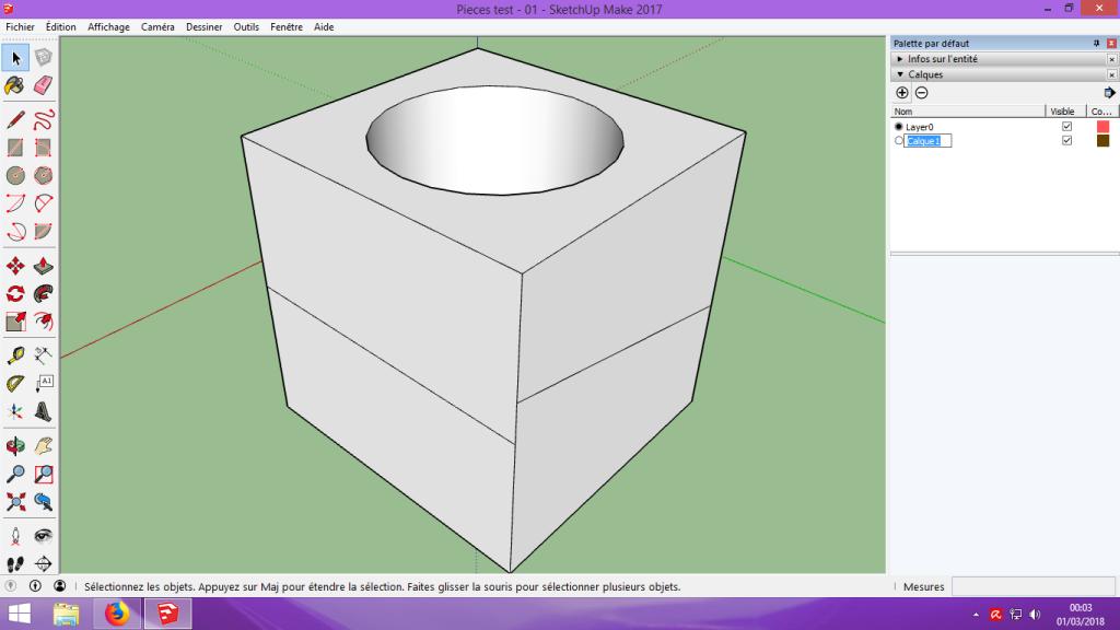 [Tuto] Modelisation 3D - Tuto 1 sur Sketchup - Installation, premier tracé, Calques et exportation STL. 053