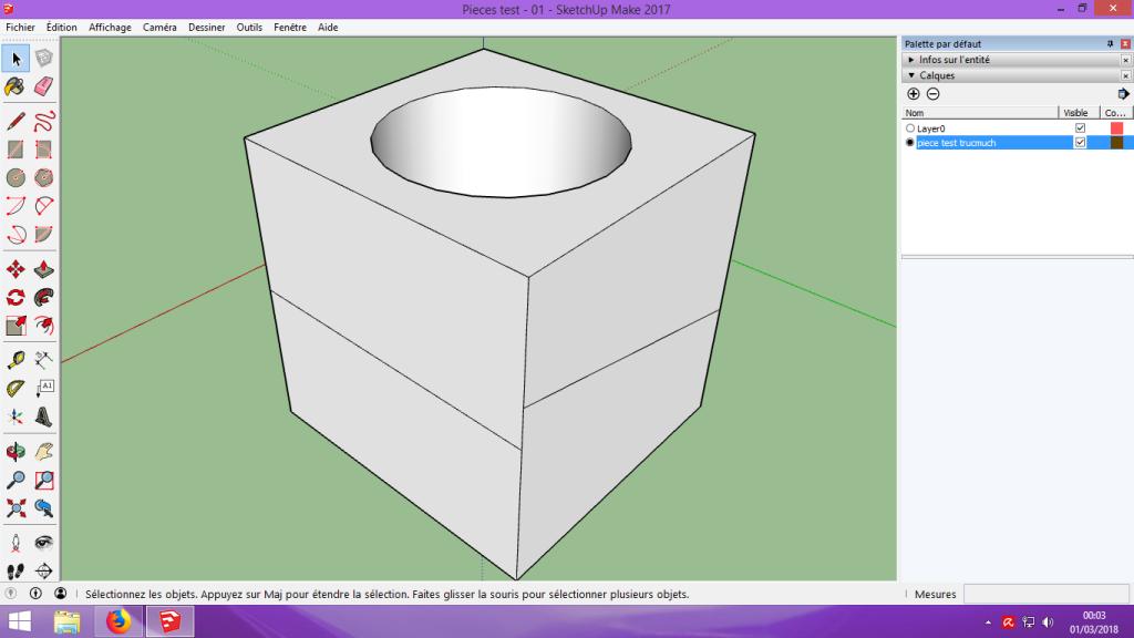 [Tuto] Modelisation 3D - Tuto 1 sur Sketchup - Installation, premier tracé, Calques et exportation STL. 054