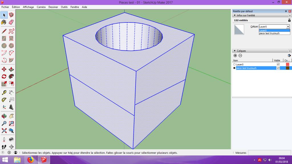 [Tuto] Modelisation 3D - Tuto 1 sur Sketchup - Installation, premier tracé, Calques et exportation STL. 055