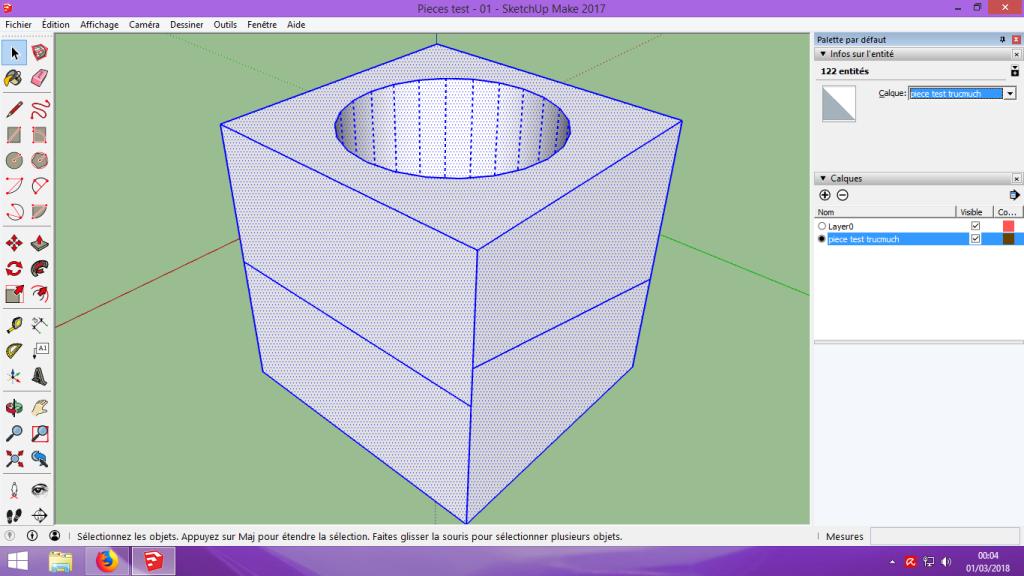 [Tuto] Modelisation 3D - Tuto 1 sur Sketchup - Installation, premier tracé, Calques et exportation STL. 056