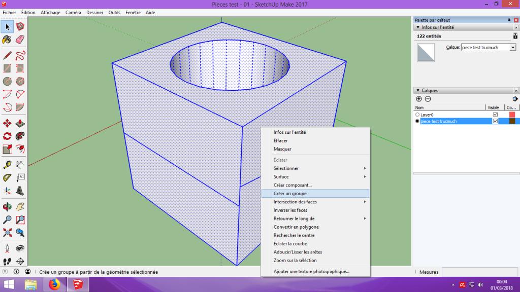 [Tuto] Modelisation 3D - Tuto 1 sur Sketchup - Installation, premier tracé, Calques et exportation STL. 057