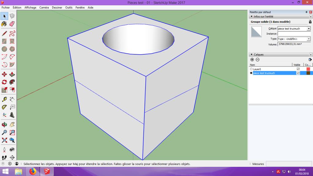 [Tuto] Modelisation 3D - Tuto 1 sur Sketchup - Installation, premier tracé, Calques et exportation STL. 058