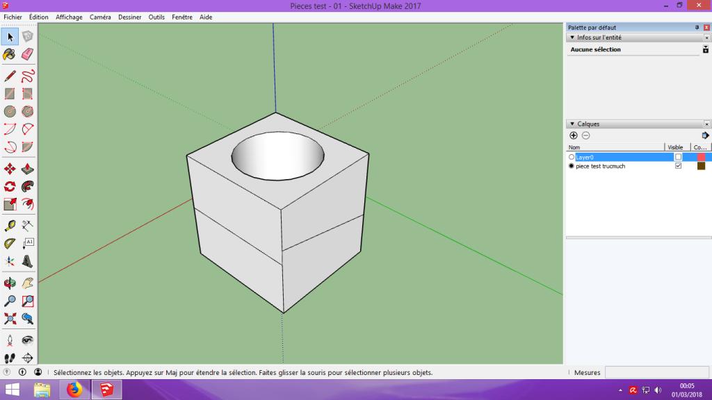 [Tuto] Modelisation 3D - Tuto 1 sur Sketchup - Installation, premier tracé, Calques et exportation STL. 059