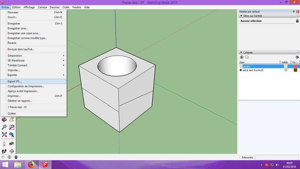 [Tuto] Modelisation 3D - Tuto 1 sur Sketchup - Installation, premier tracé, Calques et exportation STL. 060