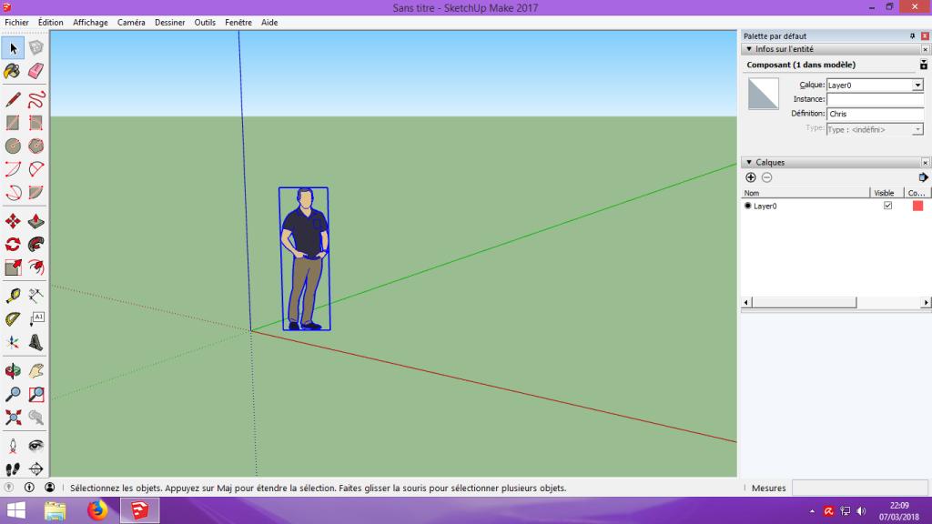 [Tuto] Modelisation 3D - Tuto 2 sur Sketchup - Importation, faire des groupes, modification de pieces. 102