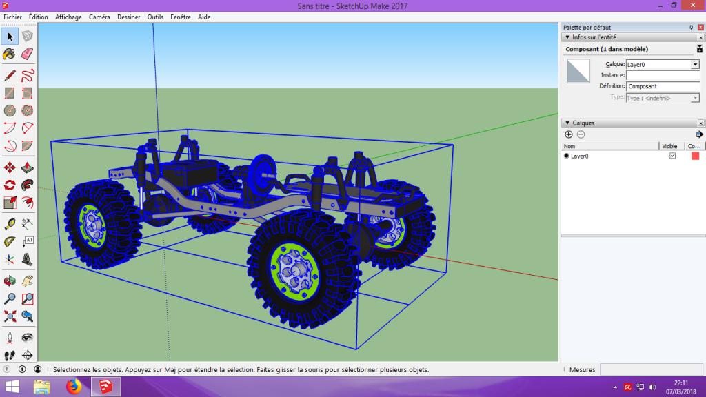 [Tuto] Modelisation 3D - Tuto 2 sur Sketchup - Importation, faire des groupes, modification de pieces. 113