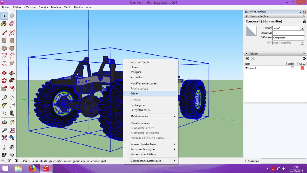 [Tuto] Modelisation 3D - Tuto 2 sur Sketchup - Importation, faire des groupes, modification de pieces. 115