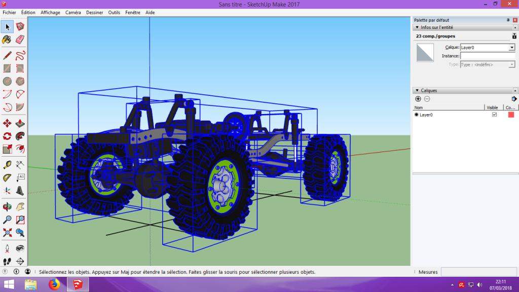 [Tuto] Modelisation 3D - Tuto 2 sur Sketchup - Importation, faire des groupes, modification de pieces. 116