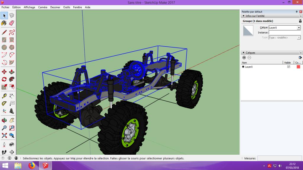 [Tuto] Modelisation 3D - Tuto 2 sur Sketchup - Importation, faire des groupes, modification de pieces. 117