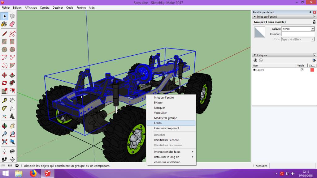 [Tuto] Modelisation 3D - Tuto 2 sur Sketchup - Importation, faire des groupes, modification de pieces. 118